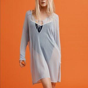 New Zara Knit Blouse Limited Edition Blue